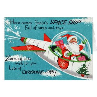 Tarjeta de felicitación retra del navidad de Santa