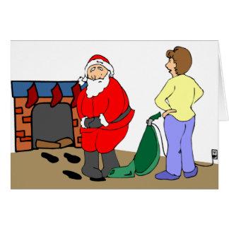 Tarjeta de felicitación reventada de Santa