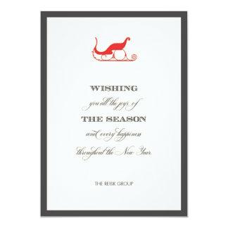 Tarjeta de felicitación roja corporativa simple invitaciones personales