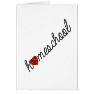 Tarjeta de felicitación roja de Homeschool del