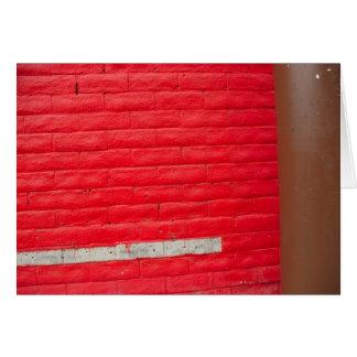 Tarjeta de felicitación roja de la pared de la ray