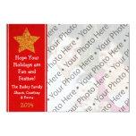 Tarjeta de felicitación roja del día de fiesta del invitaciones personales