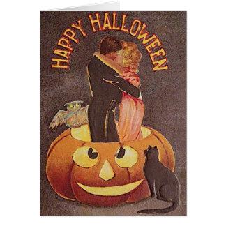 Tarjeta de felicitación romántica de Halloween del