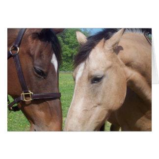 Tarjeta de felicitación romántica del caballo