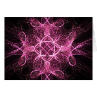 Tarjeta de felicitación rosada apasionada del frac