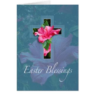 Tarjeta de felicitación rosada de las bendiciones