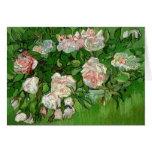 Tarjeta de felicitación rosada de los rosas de Van