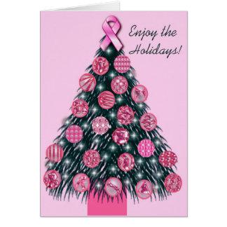Tarjeta de felicitación rosada del día de fiesta d