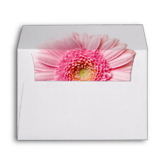 Tarjeta de felicitación rosada del sobre A7 de la