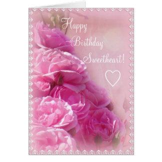 Tarjeta de felicitación rosada texturizada del cum