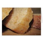 Tarjeta de felicitación sabrosa del pan del trigo