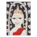 tarjeta de felicitación serena de Buda
