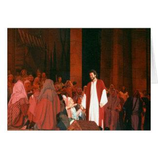 Tarjeta de felicitación subida Jesucristo del salv