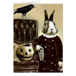 Tarjeta de felicitación surrealista de Halloween d