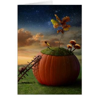 Tarjeta de felicitación surrealista del caracol