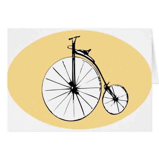 Tarjeta de felicitación temática de la bici del co