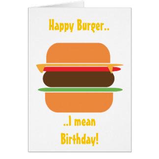 Tarjeta de felicitación temática de la hamburguesa