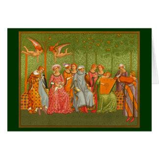 Tarjeta de felicitación temática medieval
