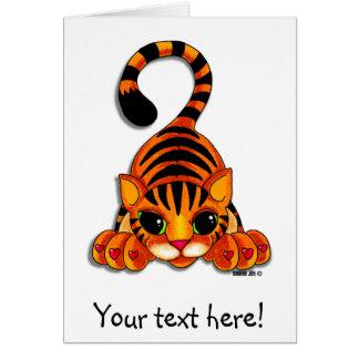 Tarjeta de felicitación - Tiggy el tigre