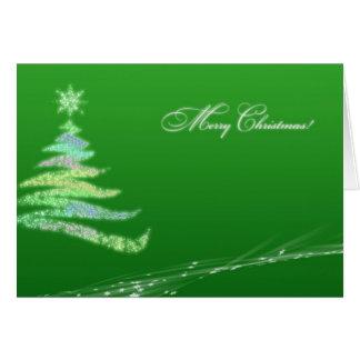 Tarjeta de felicitación tradicional del navidad