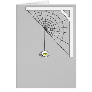Tarjeta de felicitación traviesa de la araña