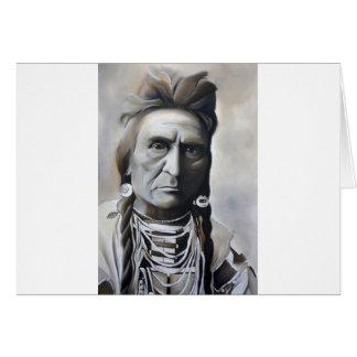 Tarjeta de felicitación tribal india nativa