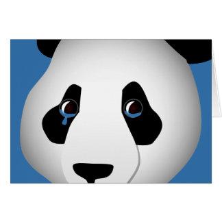 Tarjeta de felicitación triste de la panda