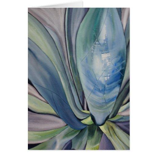 Tarjeta de felicitación tropical de la yuca
