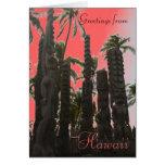Tarjeta de felicitación tropical hawaiana del tema