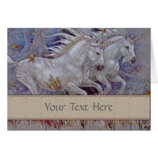 Tarjeta de felicitación - unicornios