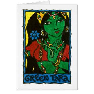 Tarjeta de felicitación verde de Tara