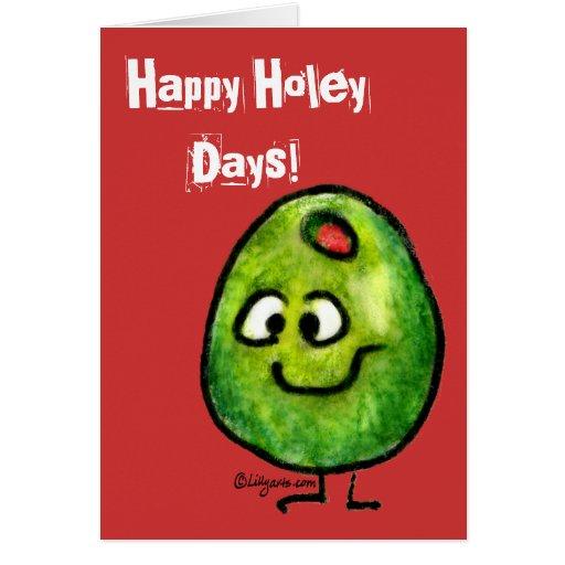 Tarjeta de felicitación verde oliva del día de fie