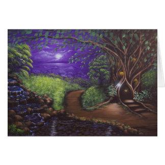 Tarjeta de felicitación violeta de la noche 2