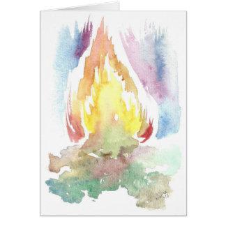 Tarjeta de felicitación viva del fuego