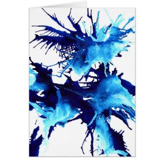 Tarjeta de felicitaciones azul vibrante de la flor