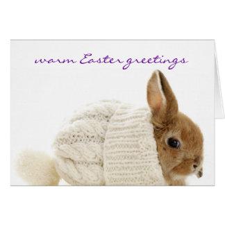 Tarjeta de felicitaciones caliente de Pascua