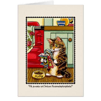 Tarjeta de felicitaciones consciente del gato del
