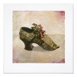 Tarjeta de felicitaciones cuadrada - 'Shoe antiguo Invitación 13,3 Cm X 13,3cm