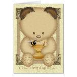 Tarjeta de felicitaciones de encargo del oso de mi