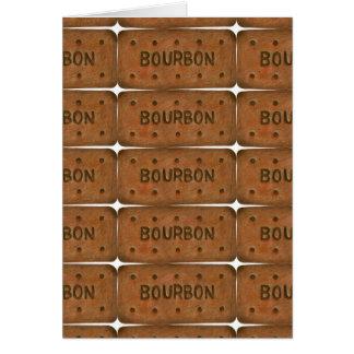 Tarjeta de felicitaciones de la galleta de Borbón