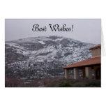 Tarjeta de felicitaciones de la montaña Nevado
