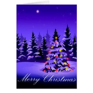 Tarjeta de felicitaciones de las Felices Navidad