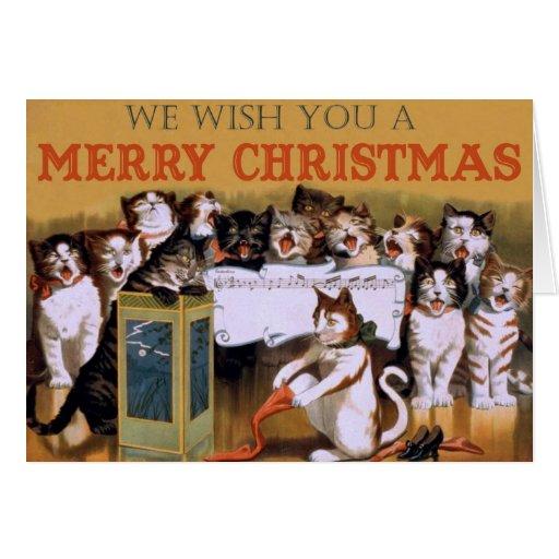 Tarjeta de felicitaciones de las Felices Navidad d