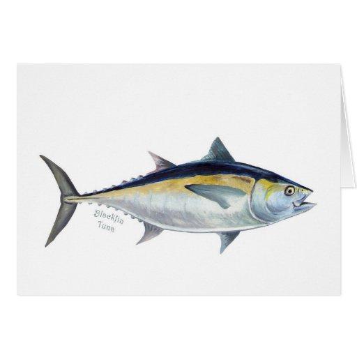 Tarjeta de felicitaciones de los pescados de atún