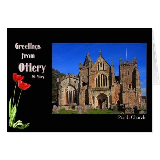 Tarjeta de felicitaciones de Ottery St Mary