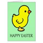 Tarjeta de felicitaciones de Pascua Chicky