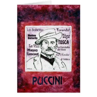 Tarjeta de felicitaciones de PUCCINI