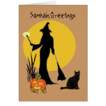 Tarjeta de felicitaciones de Samhain