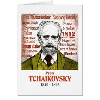 Tarjeta de felicitaciones de Tchaikovsky