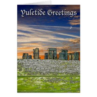 Tarjeta de felicitaciones de Yuletide